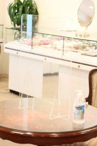 店舗、備品の消毒について